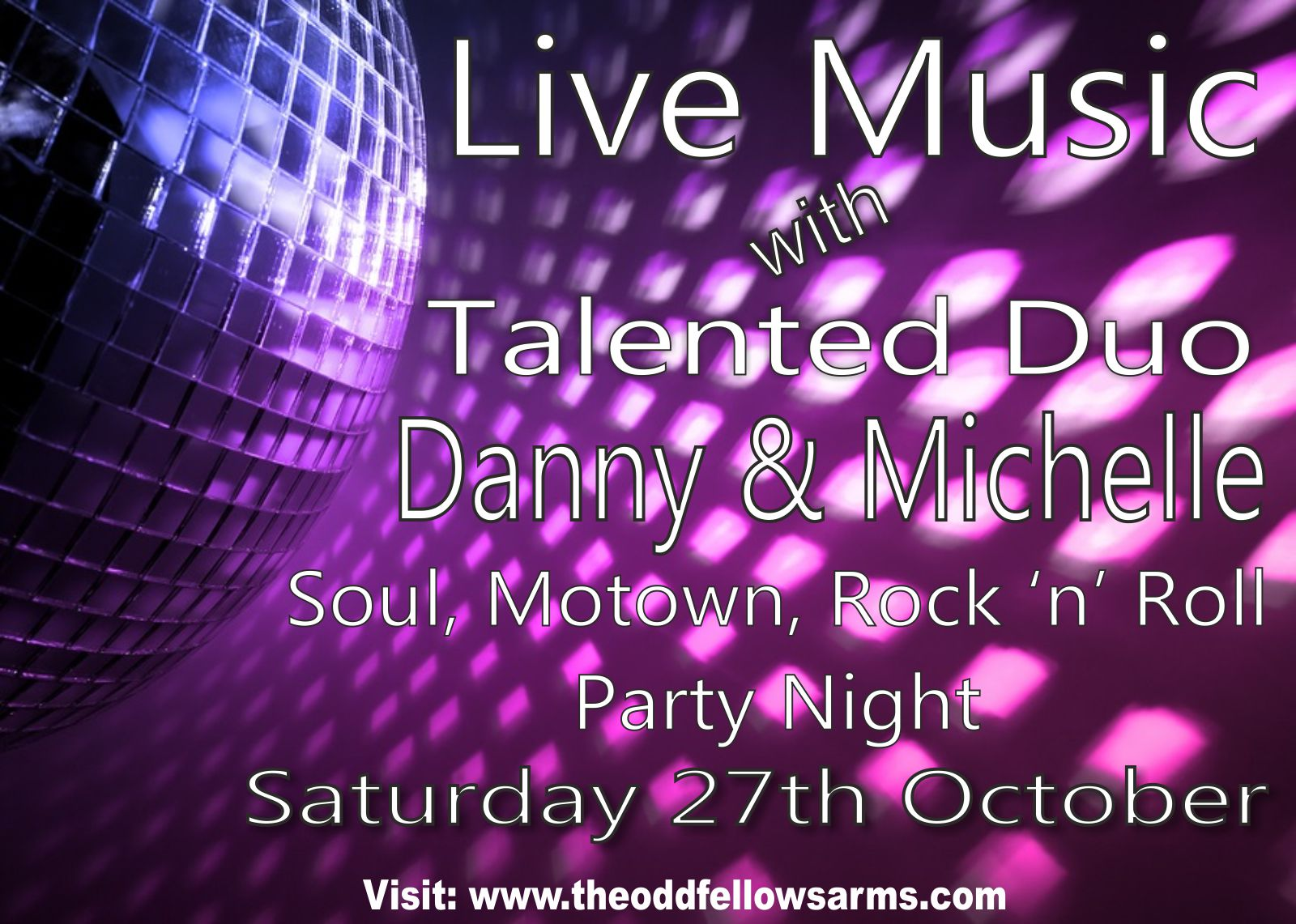 Danny and Michelle Live Soul and Pop Music – 15th December